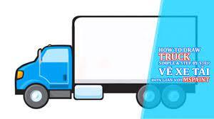 Luyện tập tin học - Hướng dẫn cách vẽ xe tải - YouTube