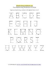 Az Worksheets For Kindergarten Uppercase Handwriting Worksheet A Z ...