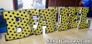 2 feet 3d letter standees beaufel for daete