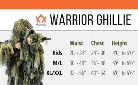 Ghillie Suit Size Chart Arcturus Warrior Ghillie Suit Camouflage Hunting Suit For Men Military Hunters Snipers Airsoft