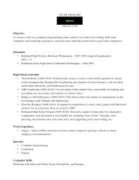 A High School Resume To Get An Internship In High School Ignore Your Schools