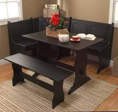 ... Dining Tables, Charming Black Rectangle Rustic Wooden Corner Booth  Dining Table Stained Design: Excellent ...