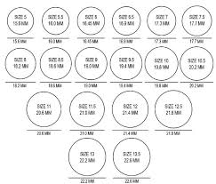 Us Ring Size Chart Women S Women Ring Sizing Online Charts Collection