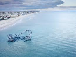 photographic essay sink or swim designing for a sea of change the roller coaster from the boardwalk in seaside heights new jersey usa partially