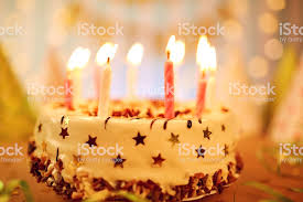 Happy Birthday Cake With Candles Stock Photo More Pictures Of