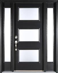contemporary black front door clopay