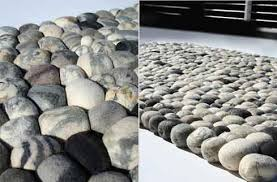 pebbles rug made of wool 1 e1297097754597 artificial pebble rug made of wool stone 285 rug
