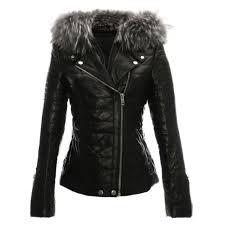 davy quilted leather fur trim biker jacket