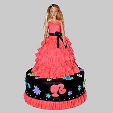 Wavy Dress Barbie Cake 2kg Chocolate Gift Little Barbie Birthday