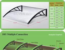 Tende Da Balcone In Plastica : Pc di plastica trasparente pioggia protezione fai da te schermo