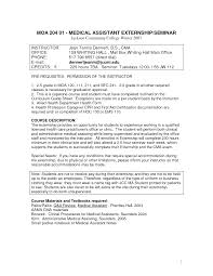 Resume For Medical Assistant Externship Sample Resume For Medical Assistant Instructor Danayaus 7