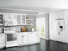 Small Picture White Kitchen Cabinets With White Appliances Superb Modern Kitchen