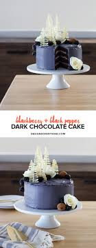 Blackberry Black Pepper Chocolate Cake Designs Of Any Kind