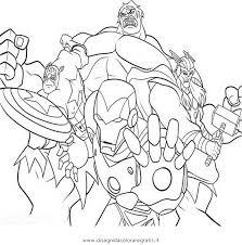 Disegno Avengers07 Personaggio Cartone Animato Da Colorare