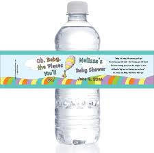 BABY SHOWER WATER Bottle Labels Blue And Gray ChevronBaby Boy Shower Water Bottle Labels