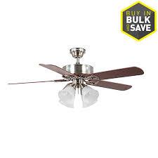harbor breeze springfield ii 52 in brushed nickel indoor ceiling fan with light kit