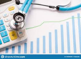 Practice Stock Charts Medical Practice Financial Analysis Charts With Stethoscope