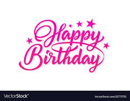 Pink Inscription Happy Birthday