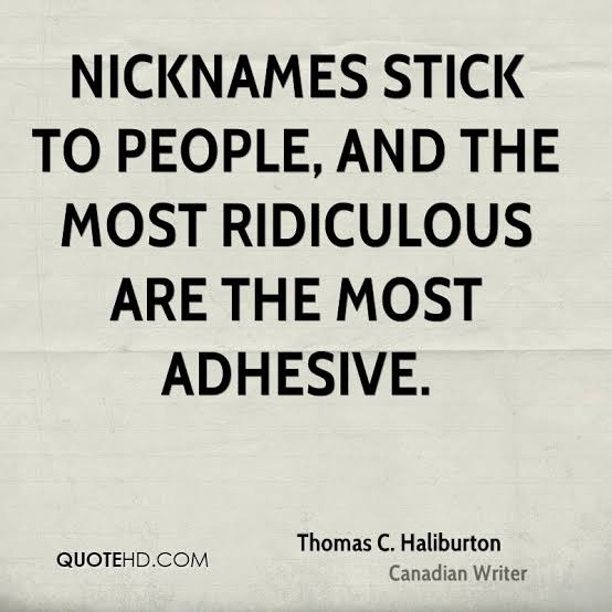 funny nicknames quotes