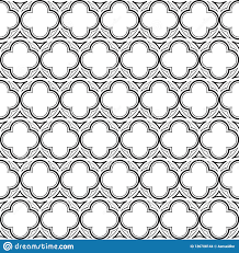 Medieval Design Patterns Gothic Rosette Seamless Pattern Stock Vector Illustration