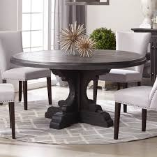 bastille round dining table top black wash