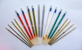 leather marker pen silver refill pen cel refill pen