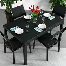choose this extending dining set daisy black 6 seater for its practicality