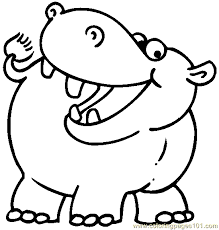 Small Picture Hippo Coloring Page 05 printable coloring page for kids and adults