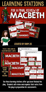 best macbeth review ideas teaching language macbeth learning stations great for a final review of the play let students independently