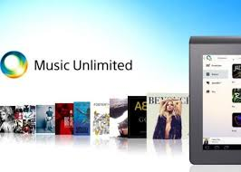 sony music unlimited logo. sony music unlimited android apps updated with offline listening and my channels access logo e