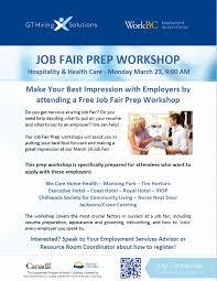 Resume Workshop Luxury Job Fair Prep Workshop 3 Workbc News