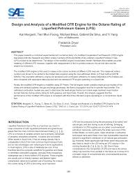 Pdf Design And Analysis Of A Modified Cfr Engine For The