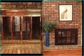 cozy ideas fireplace doors black 14 best paint brass fireplace doors painted my ugly black