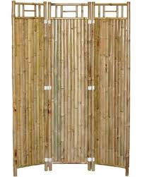 3 Panel Outdoor Bamboo Privacy Screen - Set of 2