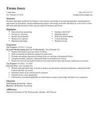 Tax Preparer Resume Samples Tax Preparer Resume Under Fontanacountryinn Com