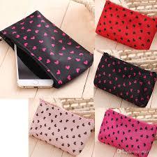 2019 women makeup bags satin waterproof love small cosmetic bag beautician female zipper cosmetics bag from starlife 0 68 dhgate