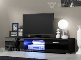 modern tv cabinets. modern tv unit cabinet stand black matt and high gloss doors free led | ebay tv cabinets