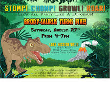 Dinosaur Birthday Invitation Birthday Invitations Dinosaur Make Wedding Invitations