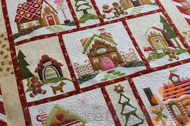 Piece N Quilt: Gingerbread Village Quilt - Custom Machine Quilting ... & I had so much fun custom machine quilting this quilt, adding little bits of  detail to each of the houses in the village. Adamdwight.com