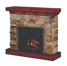 image of electric stone fireplace canada
