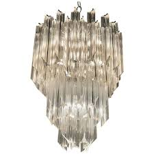 three tier hollywood regency lucite chandelier