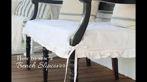 diy how to sew a bench slipcover