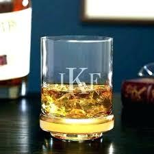 monogrammed drinking glasses engraved scotch glass monogram whiskey set of 2 crystal logo custom monogrammed drinking glasses image 0 laser engraved