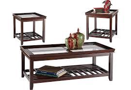 Santos Espresso 3 Pc Table Set Table Sets Dark Wood