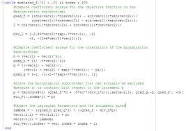 figure 2 matlab program for performing sequential newton steps on quadratic subproblem 10