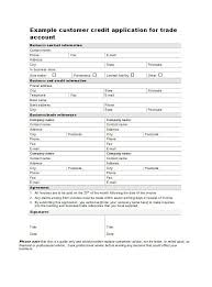 Wholesale Credit Application 45 Free Credit Application Form Templates Samples Free