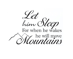 Sleeping Baby Quotes Impressive Wall Decal Sticker Quote Vinyl Let Him Sleep Baby Boy Will Move
