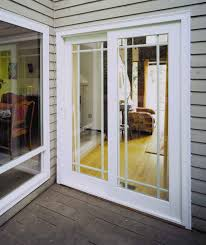 S Exterior Home Ideas With Sliding White Glass Door And Gray - Exterior replacement door