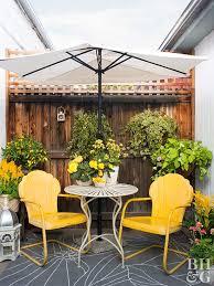 bright outdoor patio area