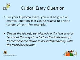 writing a thesis statement ppt video online critical essay question